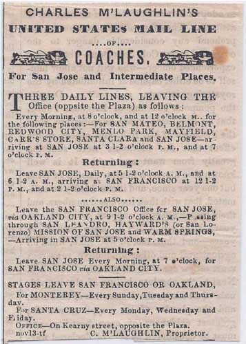 Advertisement from the San Francisco Herald of Dec 13, 1857.