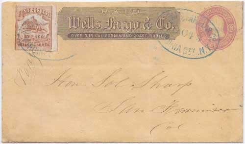 Wells, Fargo & Co. Virginia City, N. T. Oct 3 (1862) to San Francisco