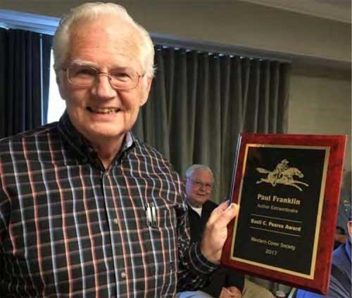2017 Basil C. Pearce Award Recipent Paul Franklin