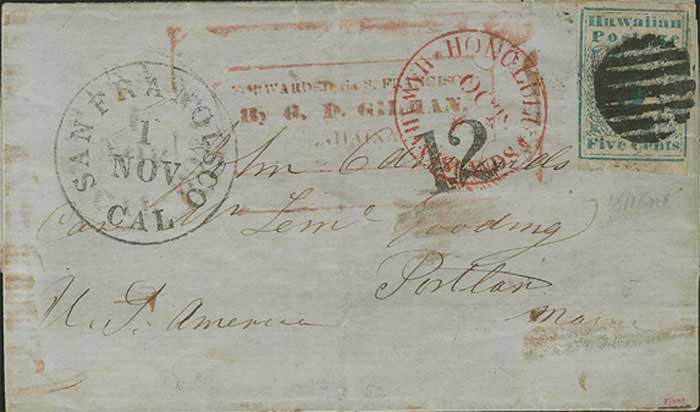 One Of Two Recorded Missionary Covers With Handstamped Forwarder's Marking