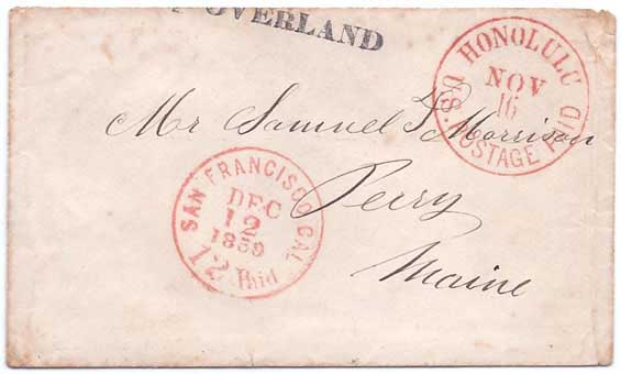 Honolulu U.S. Postage Paid Nov 16 to Maine