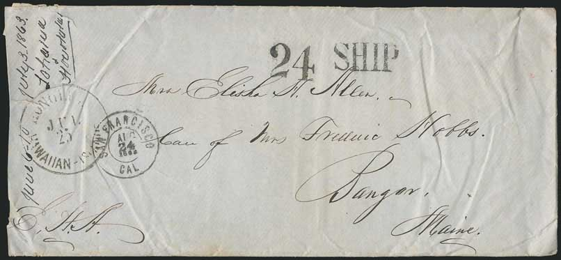 San Francisco, Aug. 24, 1863 DCDS