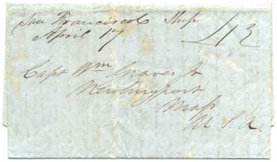 Letter was postmarked in manuscript on April 17, SFPO was without postmarking device at this time