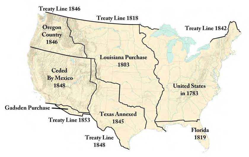 Mails Of The Westward Expansion 1803 To 1861 Chapter One - Map-of-us-during-westward-expansion