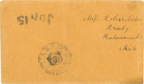 Figure 7-4. Letter postmarked at Fort Laramie O.R. (Oregon Route) on June 15, 1852 and carried under the Woodson contract to Independence.