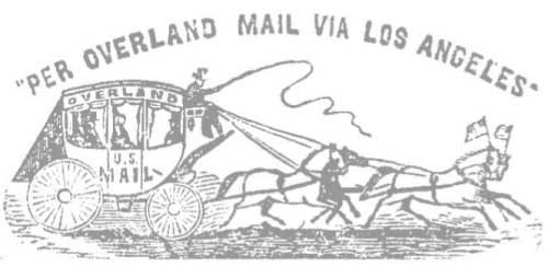 Per Overland Mail Via Los Angeles
