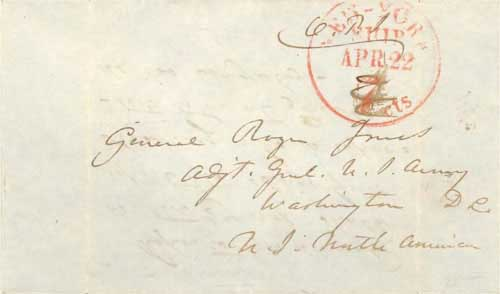 Figure 4-22. January 27, 1847 letter from Monterey sent via Panama and New York.