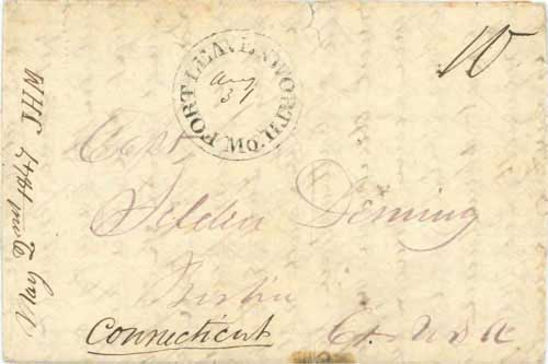 Figure 4-26. May 2, 1847 letter from San Francisco carried by Kearny's force to Fort Leavenworth.