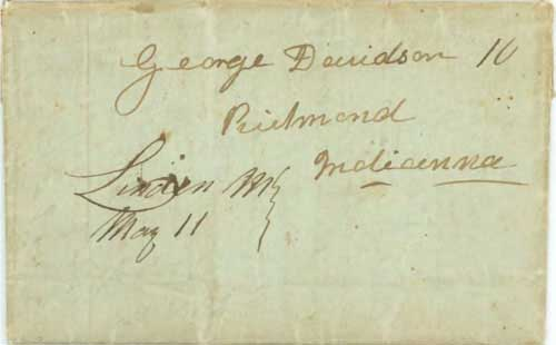 Figure 5-2. Letter datelined January 9, 1848 in Salt Lake City and carried by a returning Mormon Battalion soldier to Linden, Missouri.