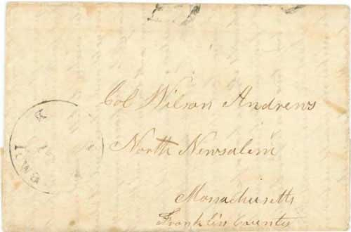 Figure 5-7. Letter datelined July 27, 1850 at Salt Lake City and carried by Mormon express via Kanesville, Iowa on September 16, 1850.