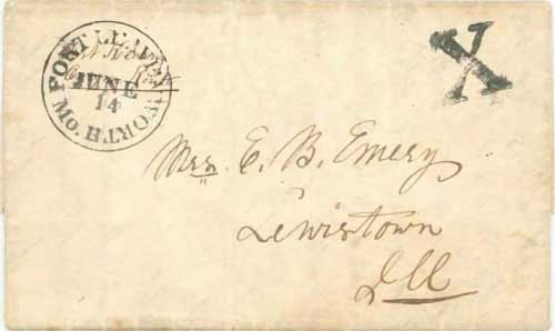 Figure 5-9. Letter datelined May 21, 1848 and carried by military express from Fort Kearny to Fort Leavenworth on June 14.
