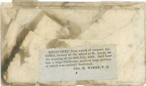 """Figure 5-10. Letter docketed """"McColl 1849"""" and probably carried by military express from Fort Laramie to the Missouri River in July 1849."""