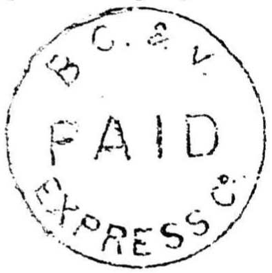 Fig. 6 was a name change from Barnard's Express in June 1862, and is seen in both black and blue ink.