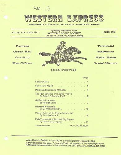Western Cover Society's April 1983 Western Express