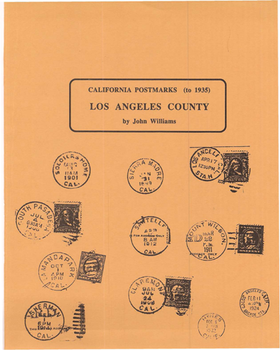 California Postmarks - Los Angeles County (to 1935)