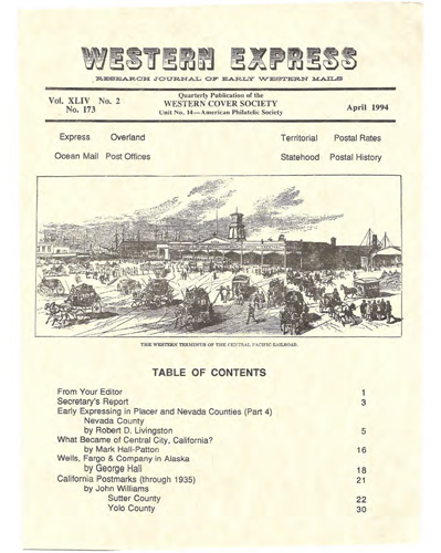 Western Cover Society's April 1994 Western Express