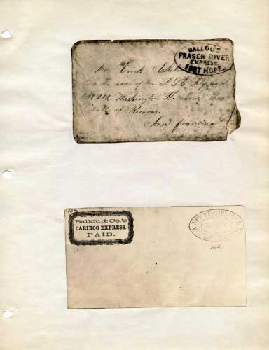 Ballou's Express, Oval Hand Stamp and Frank