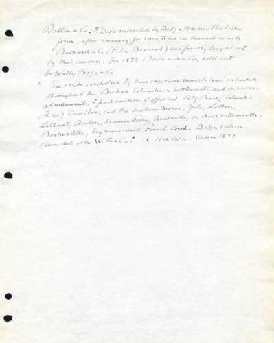 Barnard's Express, Notes On Express