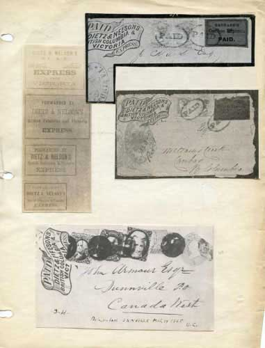 Dietz & Nellson Express, Franks and Labels