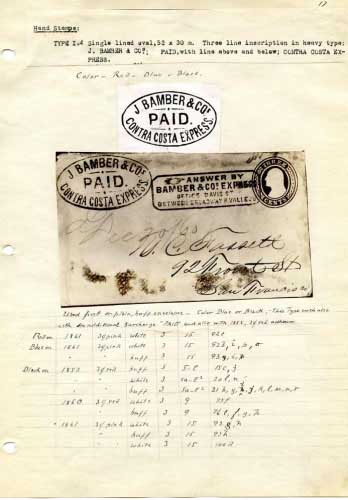 Bamber Express, Notes On Oval Hand Stamp