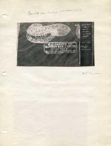 Bamber Express, Oval Hand Stamp On WF Envelope