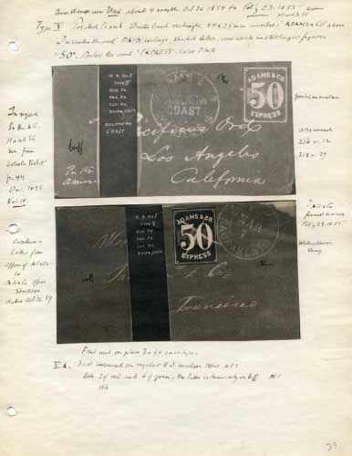Adams Express, 50 Cent Envelope and Stamp