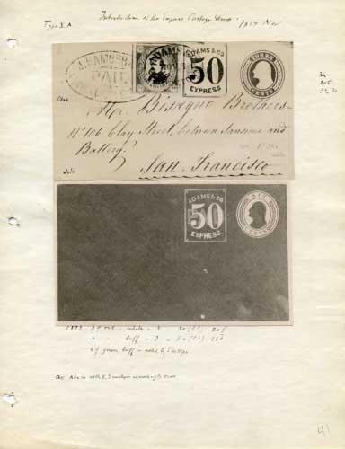 Adams Express, Fake Stamp and 50 Cent Envelope