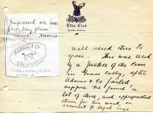 Adams Express, Embossed Envelope