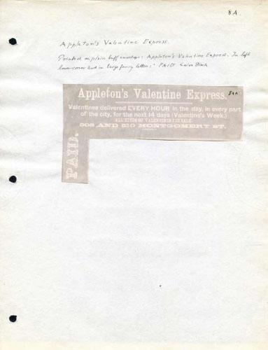 Appleton's Valentine Express, Frank