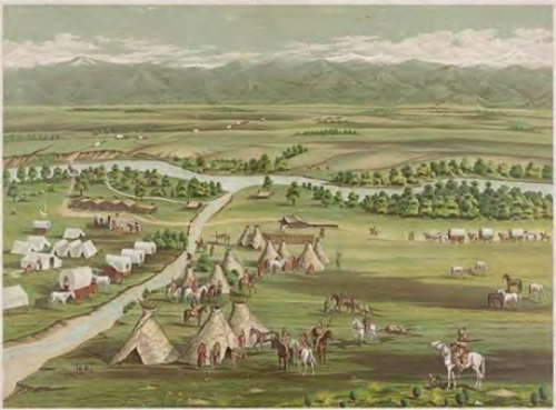 Figure 12-2. An 1859 view of the settlements at the Denver town site.