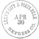 Leath City Pikes Peak Express Co. APR 30 Handstamp