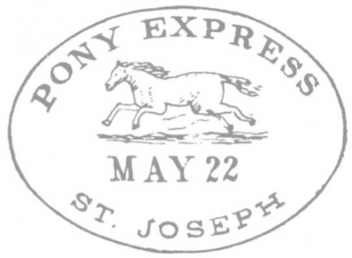 Pony Express St. Joseph May 22 Handstamp