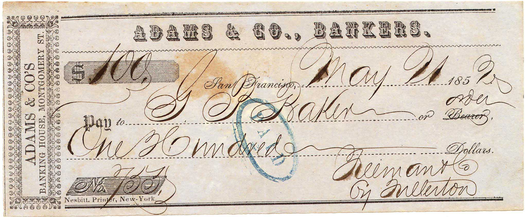 Adams Receipt 21May1852 0903 Mader