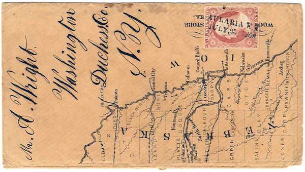 Auraria KT 1859 07 25 DesignB Map Cover