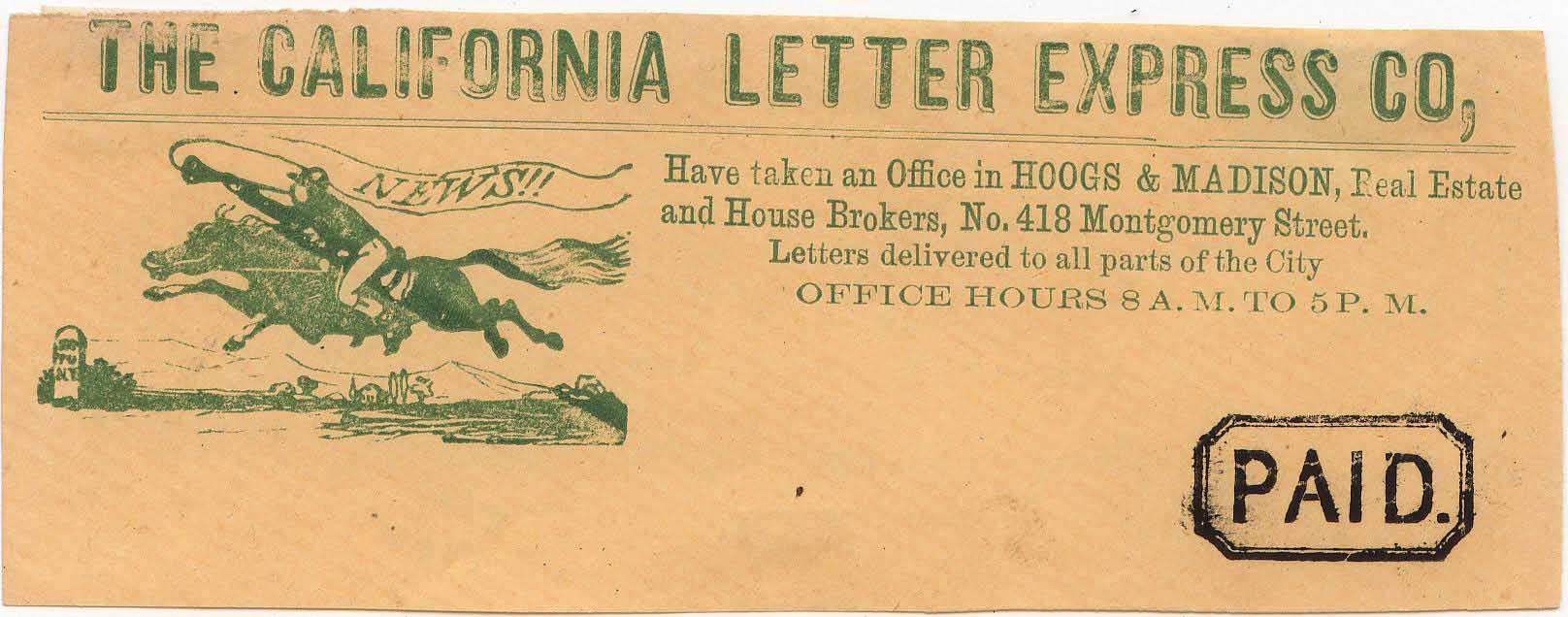 CaliforniaLetterExpress Frank Pony Green 0903 Mader