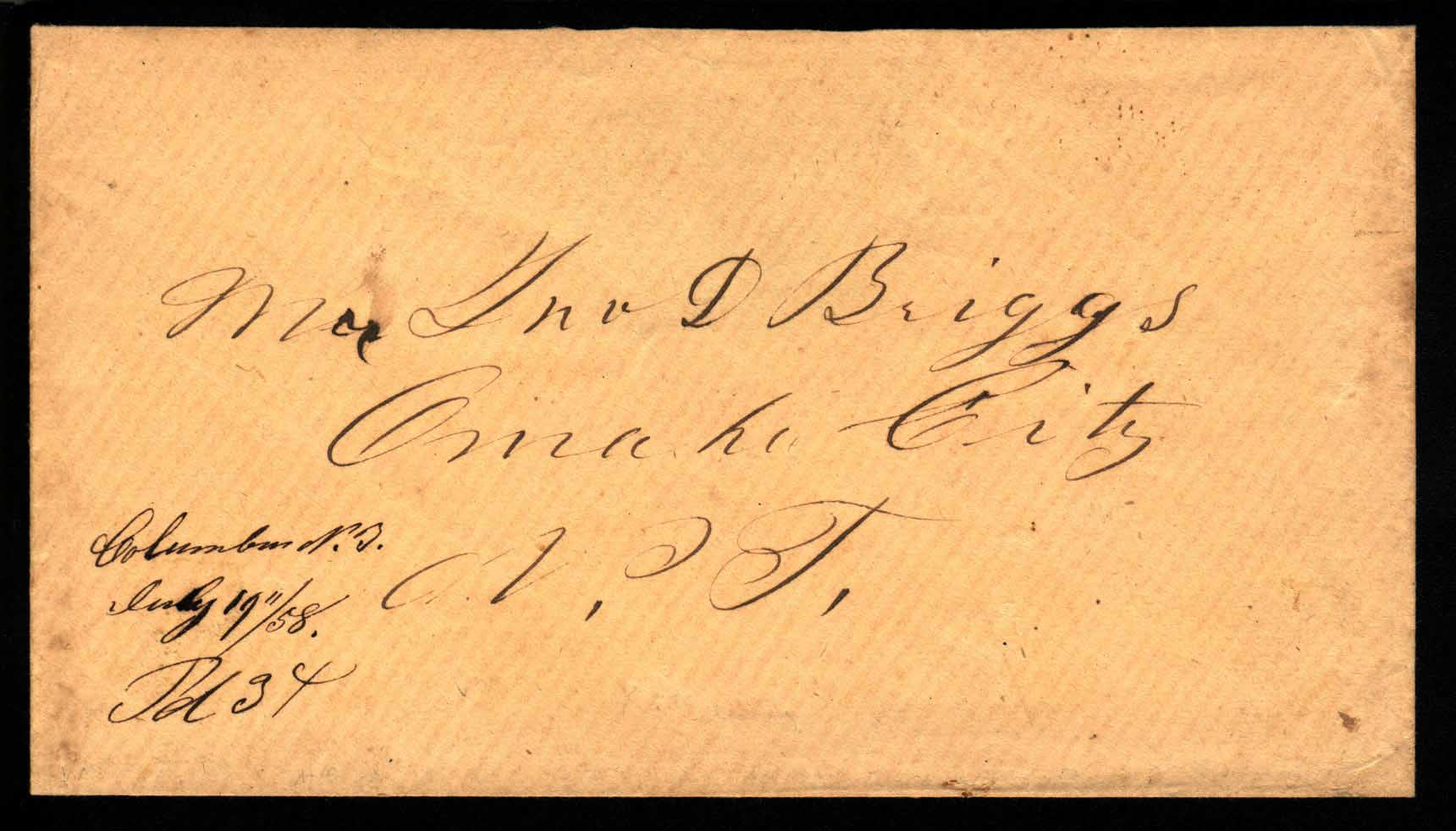 Columbus 1858 07 19