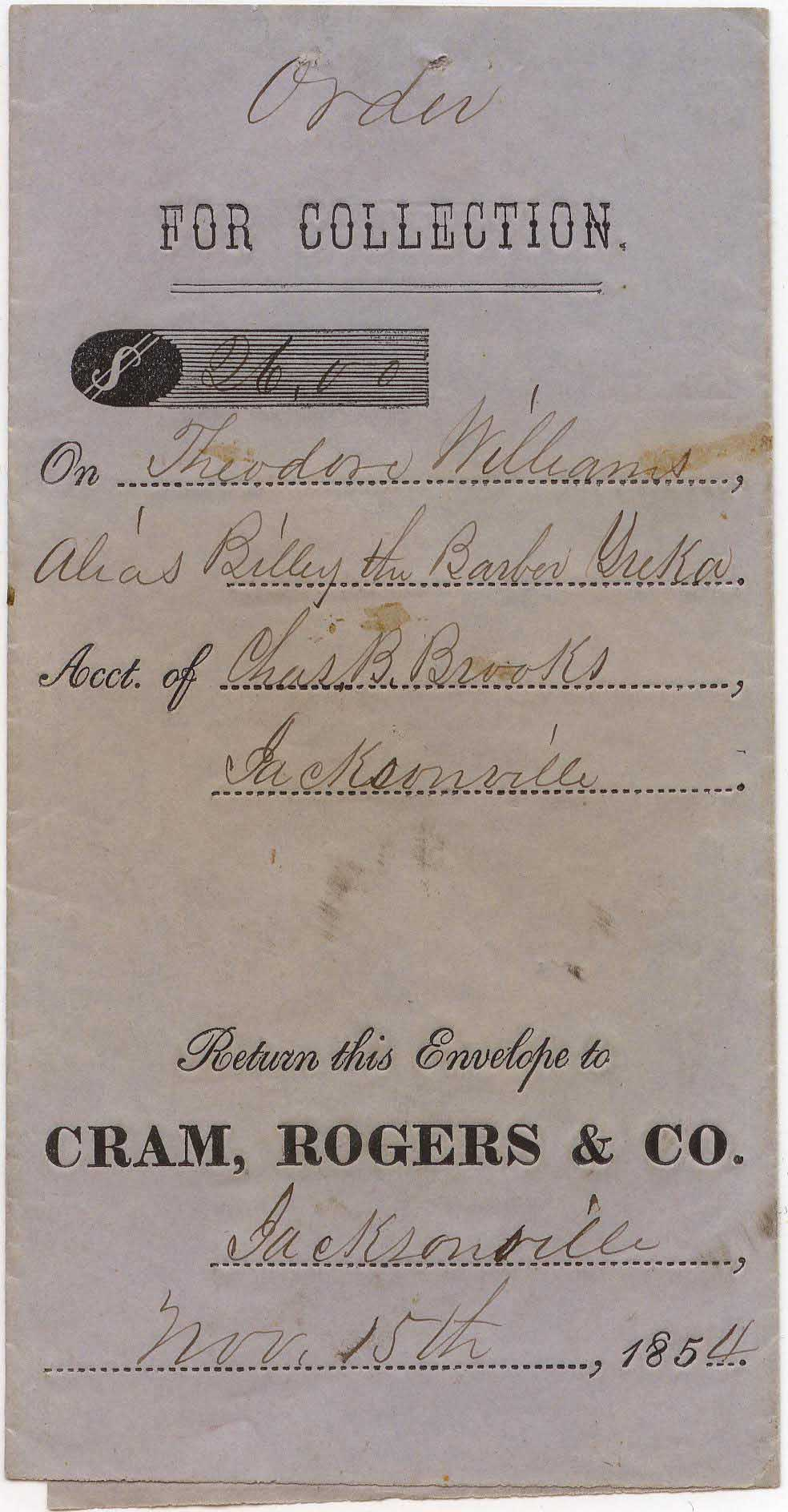 CramRogers Cash Envelope 15Nov1854 0903 Mader