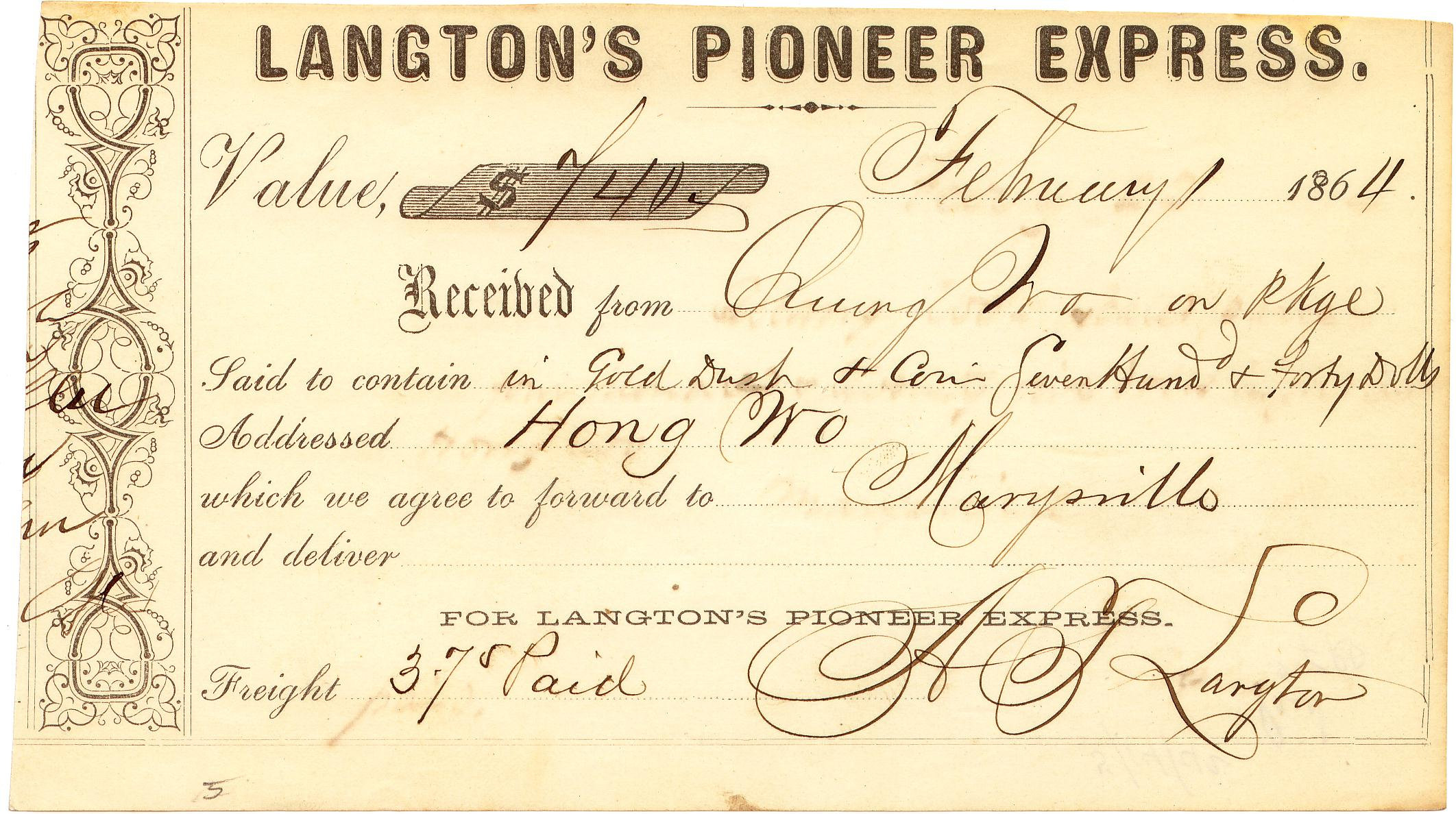 Langtons Receipt 01Feb1864 0903 Mader