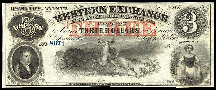 OmahaCity 1857 Note