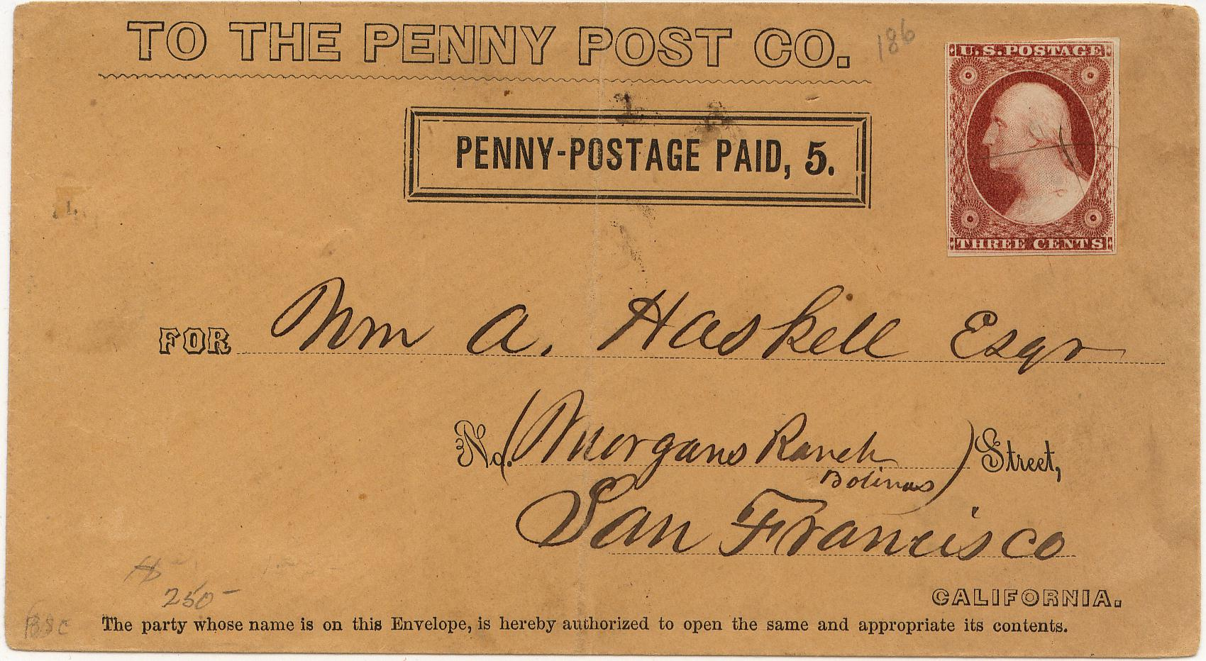 PennyPost Frank 5c Rectangle 0903 Mader