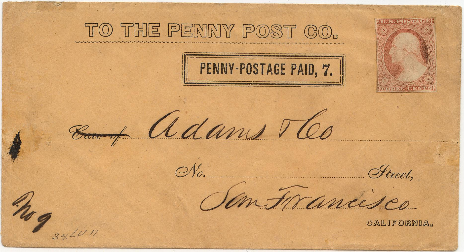 PennyPost Frank 7c Rectangle 0903 Mader 2