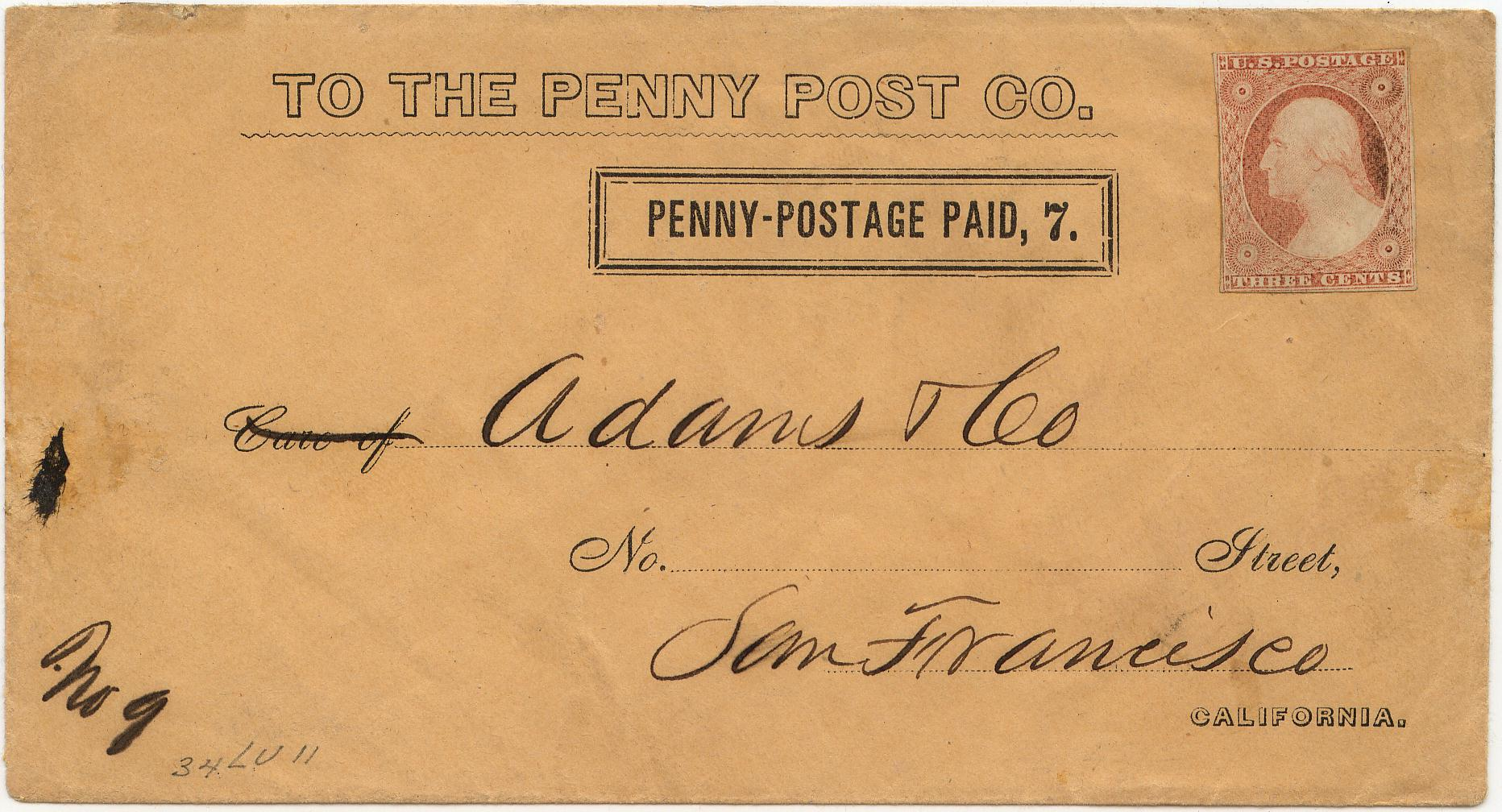 PennyPost Frank 7c Rectangle 0903 Mader