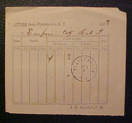 Plattsmouth 1863 06 09