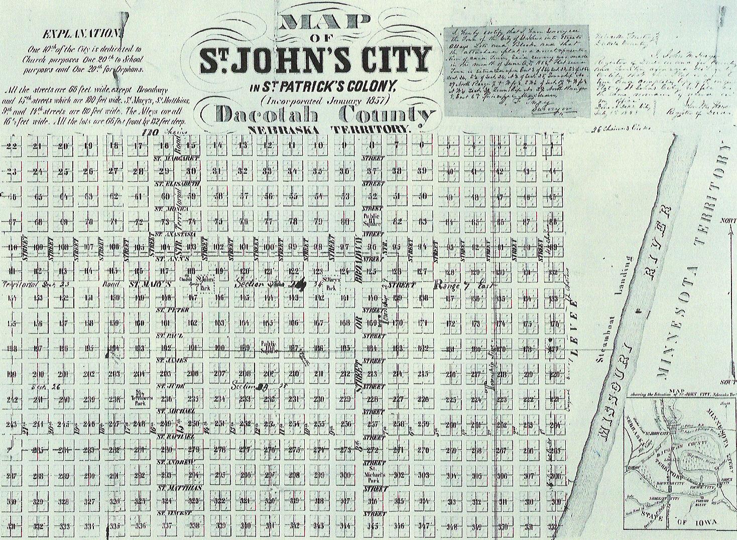 SaintJohns Map