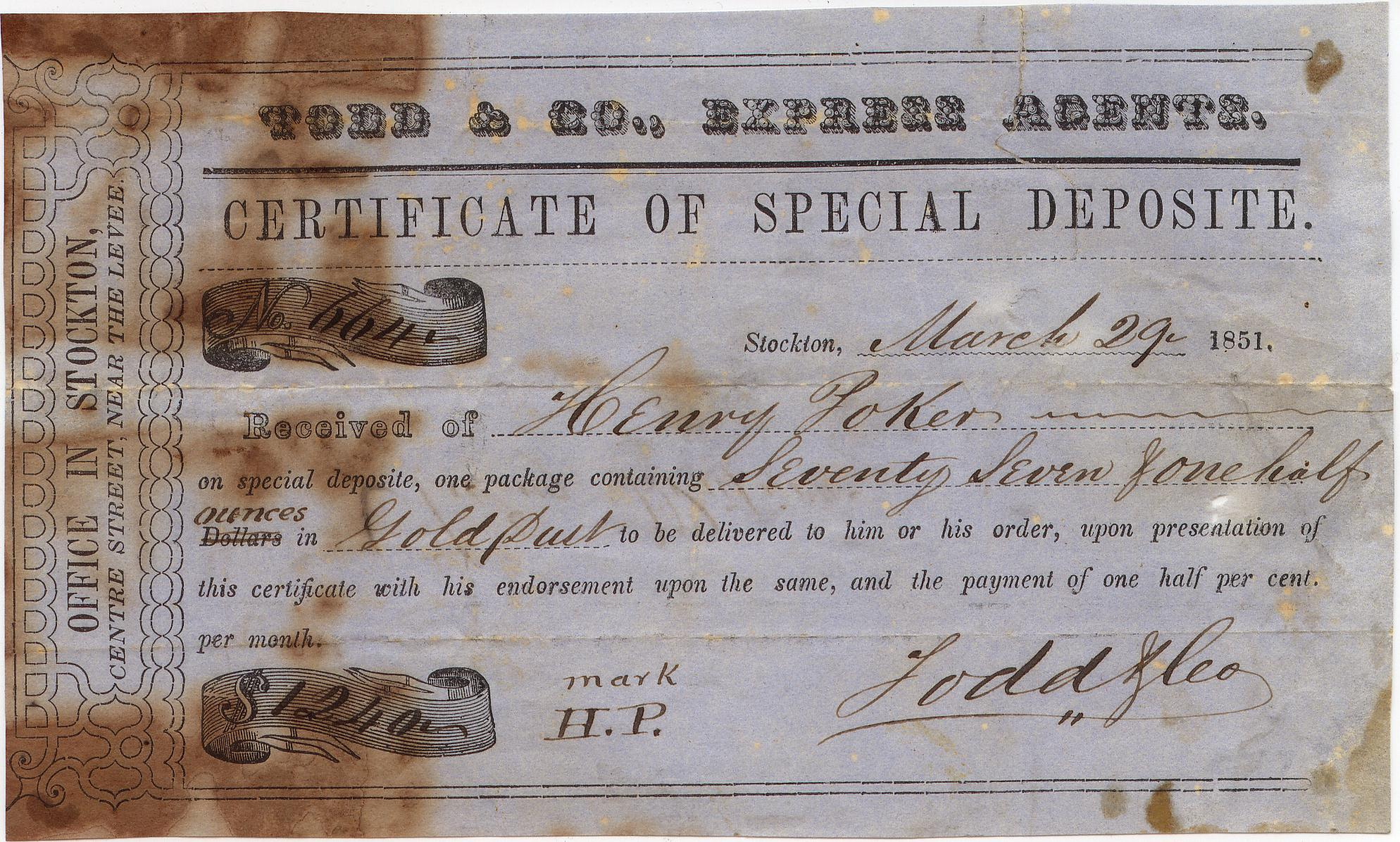 Todds Receipt 19Mar1851 0903 Mader