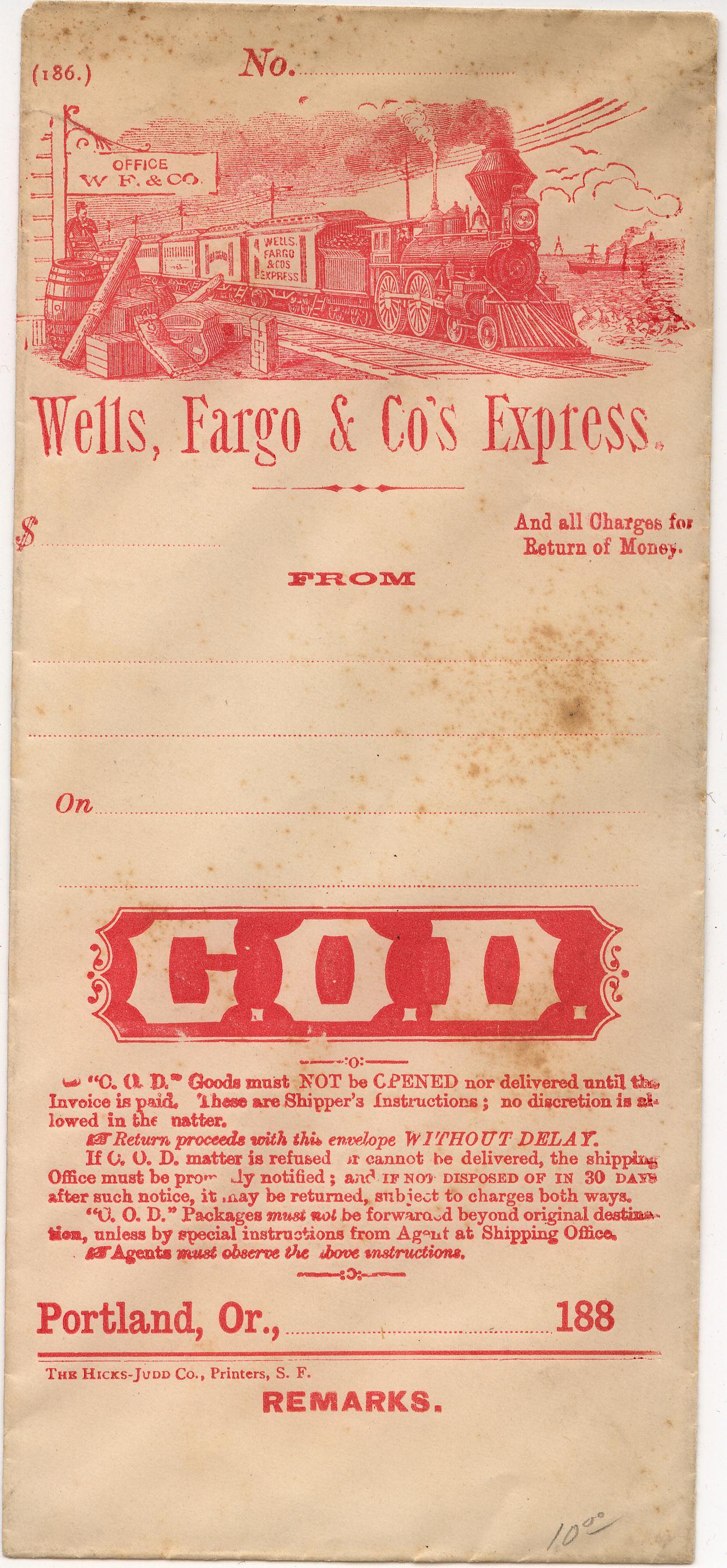 WF Cash Envelope Portland 0903 Mader