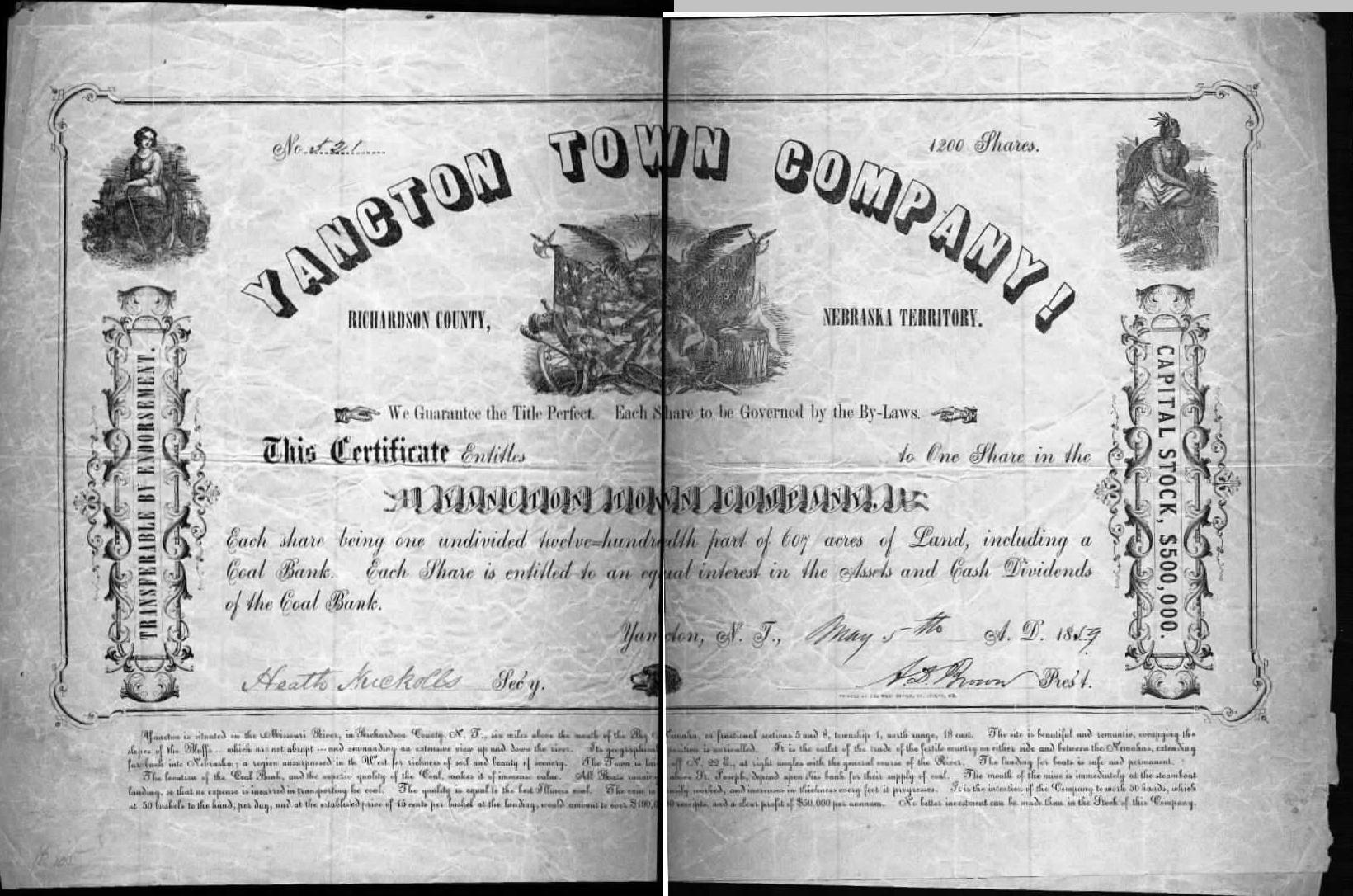 Yancton 1858 Stock