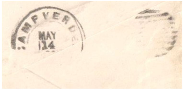 Payson Camp Verde Backstamp Postmark May 14 1888