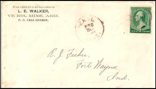 Vekol, Arizona Territory, 1889