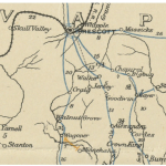 1895 Postal Route Map, Post Office Dept.